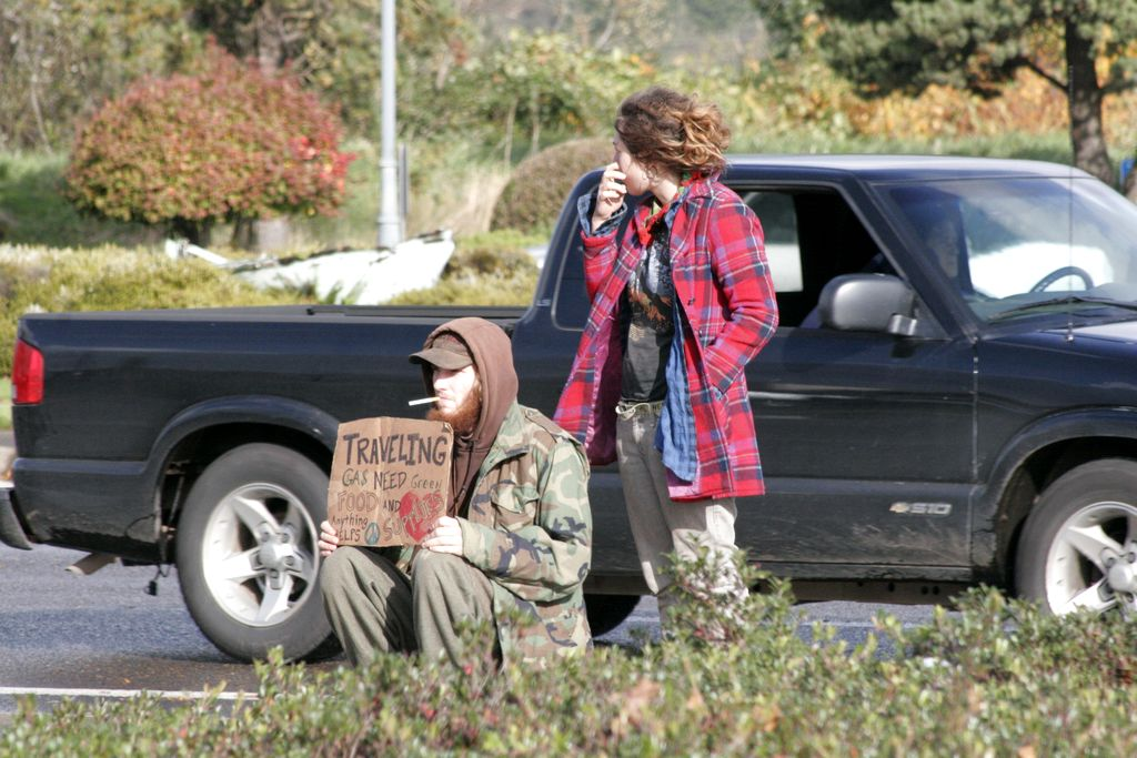 Street Couple Seeks Ride, Tillamook, Oregon